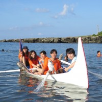 Students go on sea patrol at Orchid Island, Taiwan