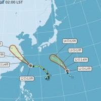 颱風麗琵形成低壓帶影響今明嚴防雷陣雨