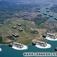 Hovercraft swarming Tamsui. (Image from mil.news.sina.com.cn)