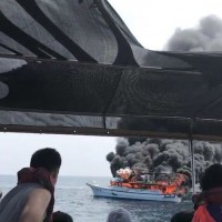 Taiwan whale watching ship catches fire, all 46 passengers safe