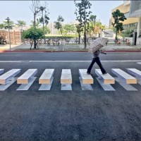 3D zebra crossings sprouting up across Taiwan