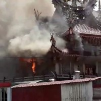 Fire mysteriously breaks out in Taiwanese temple during Ghost Month
