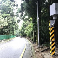 Speed camera set up at Qingjing Farm in central Taiwan to penalize drivers going over 30kph