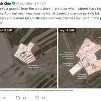 Satellite photos show China working in overdrive expanding internment camp for Uighurs