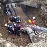 桃園機場工安意外 3人遭活埋送醫不治