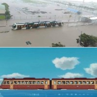 Photo of the Day: Kaohsiung Light Rail tram compared to 'Spirited Away' train