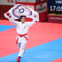 Taiwan's Hu Hsiao-shuang wins karate gold at Asian Games