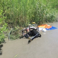 Man dies after powered paragliding crash into a river in northeastern Taiwan