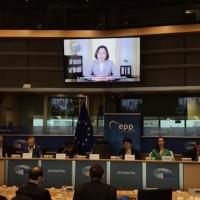 總統歐洲議會錄影談話 籲理念相同國家支持台灣