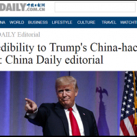 China Daily claims Trump tweeting from 'an alternate universe'