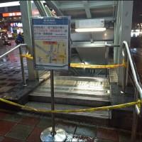 【影片直擊】北市捷運東門站淹水封閉2入口 大安信義內湖區一級警戒