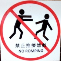 Photo of the Day: 'No Romping' sign seen on bus in western Taiwan