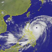 山竹颱風眼超明顯 面積竟然比這裡大!
