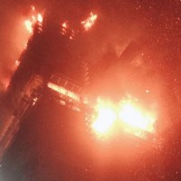 Massive inferno engulfs New Taipei tower