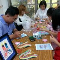 捲的不是紙而是鄉愁新住民教課重拾家鄉捲紙藝術
