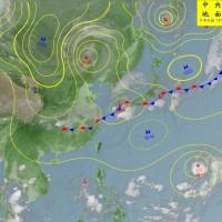 颱風潭美最快今日形成 23日鋒面到北部轉濕涼