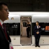 香港高鐵今舉行通車儀式 泛民團體抗議「割地」與「一地兩檢」
