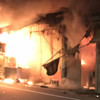 Fire erupts in residential area of Taichung, Taiwan