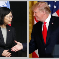 President Tsai and President Trump (Images by Associated Press, modified)