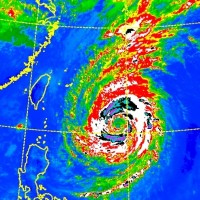 CWB infrared satellite image of Typhoon Trami.