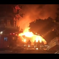 Fire in 3 warehouses in Kaohsiung burns for 12 hours