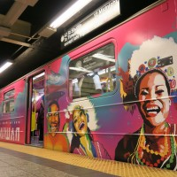 Taiwan's iconic cultural images hop on New York subway train