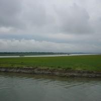 孟加拉國博多河水位上升 近萬名居民被迫當氣候難民