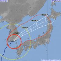 康芮颱風靠近日本 福岡出現強陣風