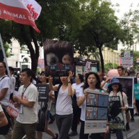Hundreds attend animal rights march in Taipei