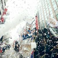 【圖輯】亞運台灣英雄國慶花車大遊行 館前路「英雄谷」熱鬧爆表