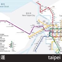 Taipei MRT map. (Image by fiftythree.studio)
