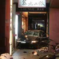 Three reported dead after young unlicensed driver crashes on to Taipei sidewalk