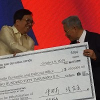 Taiwan donates US$250k for Philippines typhoon relief