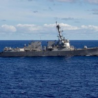 The photo shows the US Navy vessel DDG-89, which sailed through the Taiwan Strait in July, 2018.(Image credit of navy.mil)