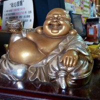 Happy Buddha at Taiwan Lottery store.