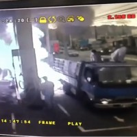 Video shows CPC gas station burst into flames in New Taipei