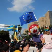 加入同志遊行 歐盟代表:希望見證臺灣落實婚姻平權