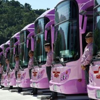 Free rides today on Taipei's first all-electric bus route