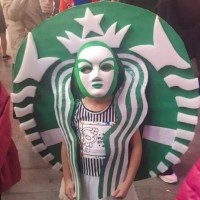 Photo of the Day: Starbucks siren spotted during Halloween in Taipei