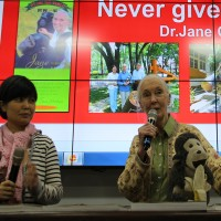 Jane Goodall gives message of hope to Taiwanese workers