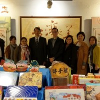 Central American trade delegation visits I-Mei factory in Taoyuan, Taiwan