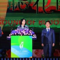 臺中花博開幕 蔡英文邀世界一起看見臺灣的美麗