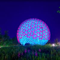 這朵花不會謝!「豪華朗機工」創巨型機械花 台中花博日夜精彩
