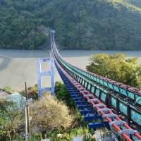 New tourist hotspot in Taiwan's Taoyuan: new Sikou suspension bridge