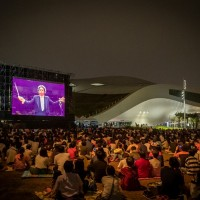 Thousands gather outside theater to hear Berlin Philharmonic in southern Taiwan
