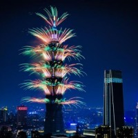Taipei 101 New Year's Eve fireworks. (Image from Taipei 101)