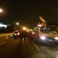 【快訊】國道員警處理交通事故遭高速碰撞 2警1民眾送醫急救