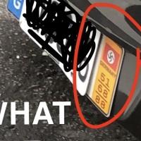 Nazi swastika flag spotted on car in Taipei