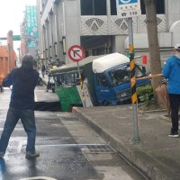 Update: Sinkhole swallows truck in central Taipei
