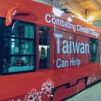 Photo of the Day: 'Taiwan Can Help' slogan posted on Polish trams